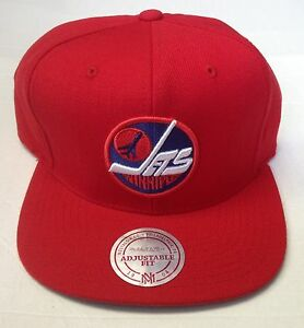 Image is loading NHL-Winnipeg-Jets-Mitchell-and-Ness-Vintage-Snapback- a3bdde76aaeb