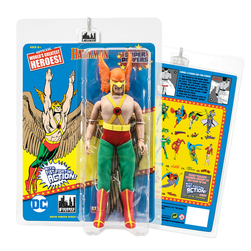 Super Powers 8 Inch Action Figures With Fist Fighting Action Series  Hawkman