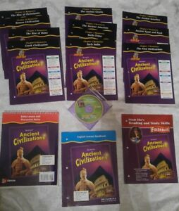 Details about GLENCOE 6th 7th 8th GRADE 6 7 8 ANCIENT CIVILIZATIONS Full  Curriculum LOT of 15