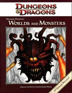 Worlds and monsters 4th edition preview exc+! Dungeons dragons d&d.