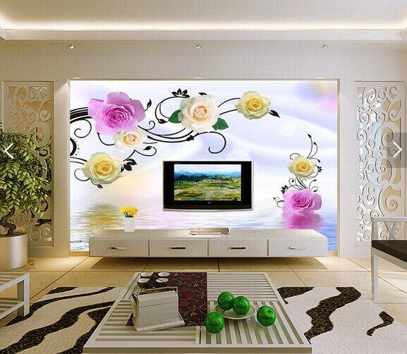 3D Squid Petal 4028 Wallpaper Murals Wall Print Wallpaper Mural AJ WALL UK Carly