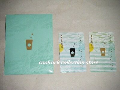 2014 China Starbucks coffee SUMMER gift card set used (2nd version)