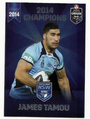 2014 ESP NRL STATE OF ORIGIN NSW BLUES COWBOYS JAMES TAMOU SOO18 CARD