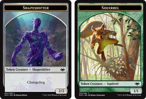 4X NM Shapeshifter //// Squirrel Token Modern Horizons MTG Magic the Gathering