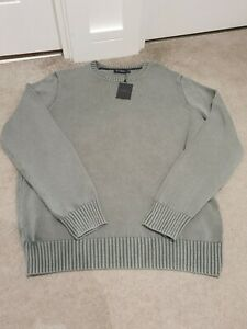 Hackett-London-XL-Full-Cotton-Jumper-XL-Green-Pullover-New-With-Tags