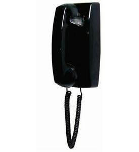 Cortelco-255400-VBA-NDL-Black-Wall-Phone-NO-Dial-ITT-2554NDL-BK