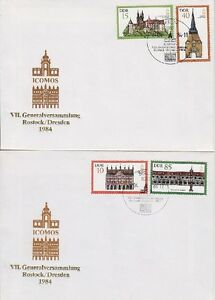 DDR-FDC-2869-2872-auf-2-FDCs-mit-SST-Berlin-24-04-1984-first-day-cover