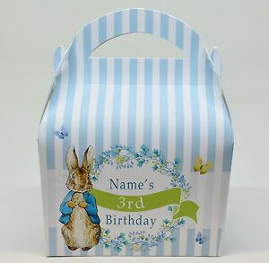 Peter-Rabbit-Children-039-s-Personalised-Party-Boxes-Gift-Bag-Favour-1ST-CLASS-POST