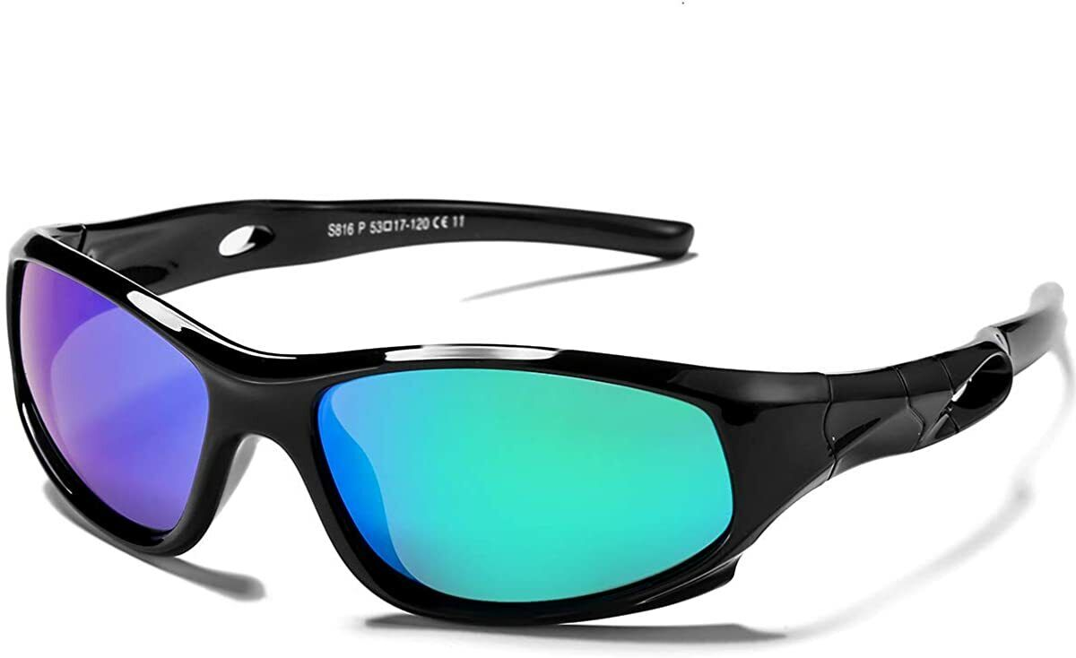 TOREGE Polarized Kids Sports Sunglasses For Boys Girls Age 3-6 TR17