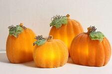 4 Piece Illuminated Wax Pumpkins by Valerie BEADS RTL$35