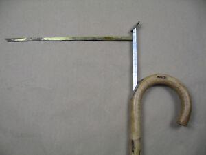 Messstock für Pferde Spazierstock aus Holz mit eingearbeiteter Messlatte