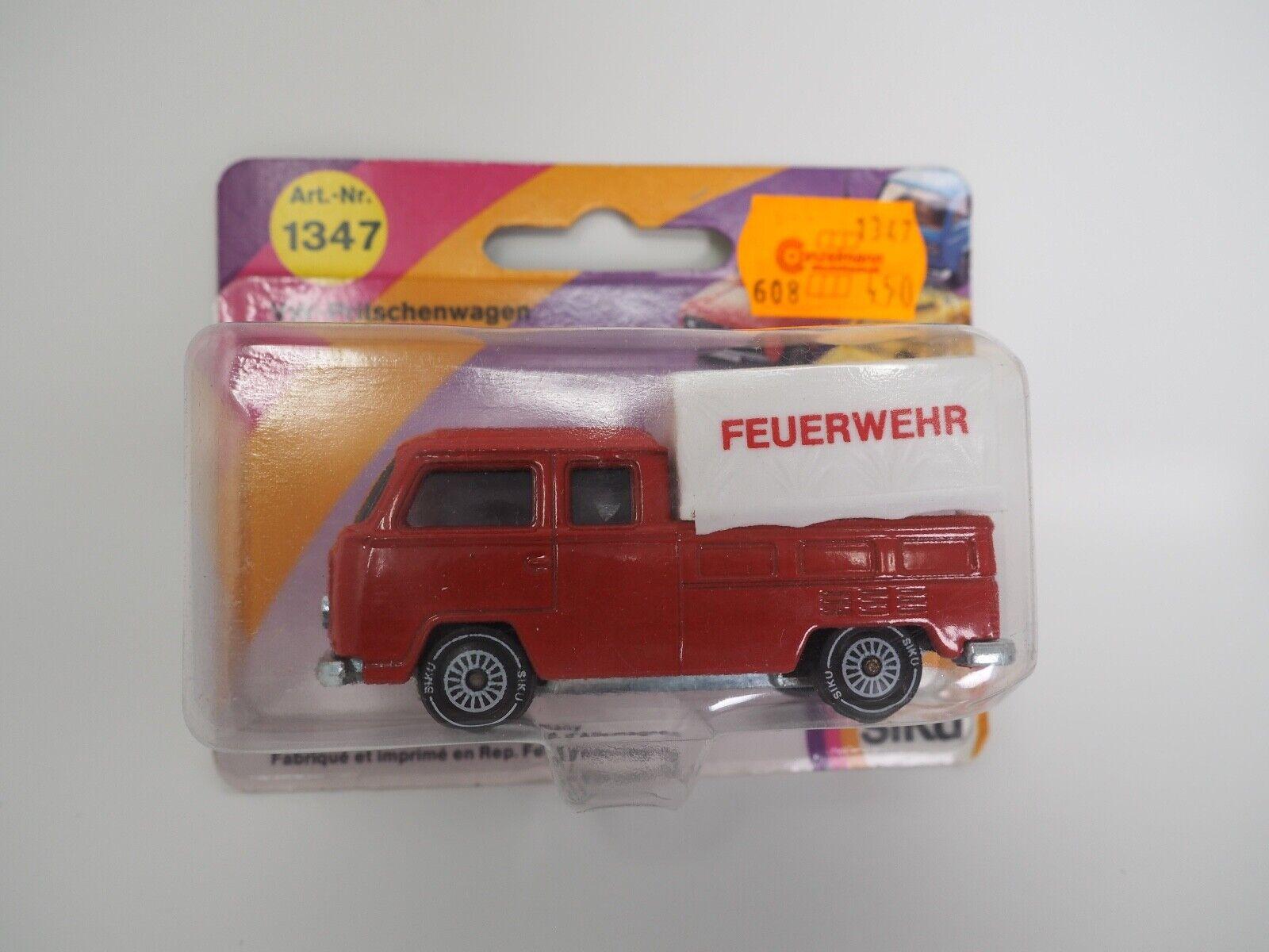 SIKU 1347 VW carrosserie t2 Bus Volkswagen Pompiers Original dans le blister