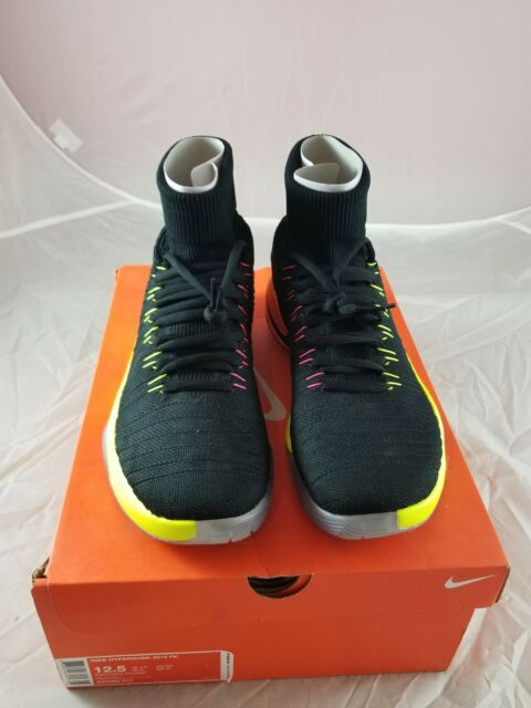 online retailer 8dfce be838 ... grey white online be384 c8961  italy mens nike hyperdunk 2016 fk shoes  size 10 black volt orange 843390 017 e6b06 2e05b