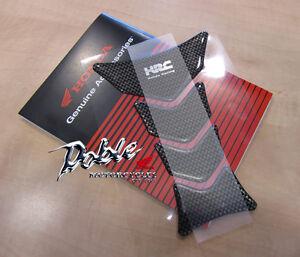 Real Carbon Fibre Honda Tank Pad with Wing Logo New Genuine Honda OEM Genuine