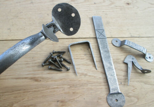 HAND FORGED BLACKSMITH COTTAGE SUFFOLK THUMB LATCH PENNY END