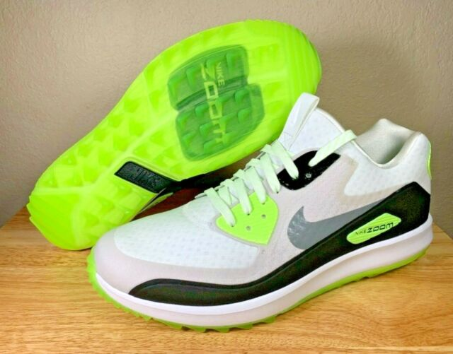 wholesale dealer 81bf4 e09de Nike Air Zoom 90 IT Spikeless Golf Shoes White Cool Grey Green SZ New  844569-102