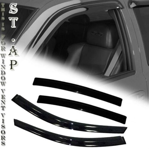 99-01 Mazda Tribute 4Dr Window Vent Sun Guard Rain Guard Visor Deflector Smoke