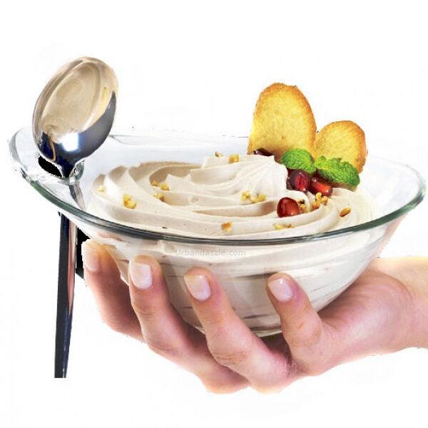 Confezione da 6 Coppe per Gelato snack Coppette della Practica Borgonovo 12 cm