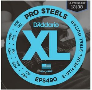 3 Sets D'Addario EPS490 Pedal Steel Strings E-9th Pedal Steel Guitar