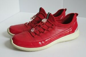 ECCO RED REAL LEATHER WOMEN'S BUNGEE