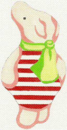 """/""""Piglet/"""" from Winnie the Pooh handpainted Needlepoint Canvas by Silver Needle"""
