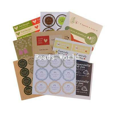 1 Set(91Pcs) 'Especially for You' Paper Labels Envelopes Seals Sticker 15-100mm