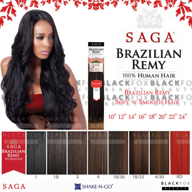100 Milky Way Saga Brazilian Remy Human Hair Weave Yaky Straight 22