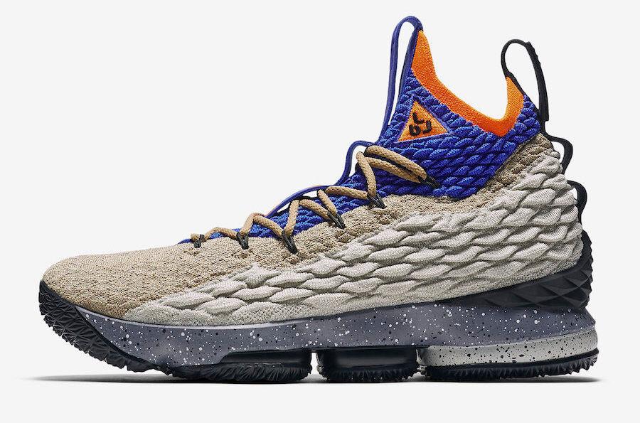 Nike Lebron 15 XV Mowabb Grey bluee orange Size 10