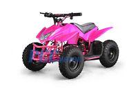 Titan Kids Electric Battery Mini Outdoor Quad Dirt Bike Ride On Atv 24v Pink