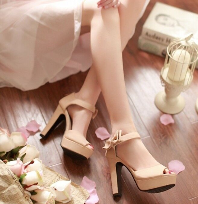 Elegant Sandals colour apricot high heel 12 cm ca bow side cod. 8057