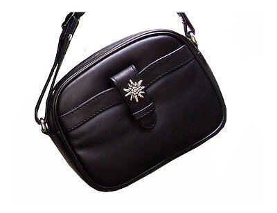 Trachtentasche Dirndltasche Damentasche Umhängetasche Ledertasche Schwarz