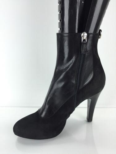 Longchamp 36 Bottines en Cuir Noir Femme erCBWxod