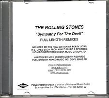 """ROLLING STONES """"Sympathy For The Devil"""" Full Length Remix 3 Track PROMO CD RARE"""