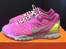 2011 Womens Nike Free TR Fit 2 Winter Pink Grape Silver Yellow Size 9 Used Rare