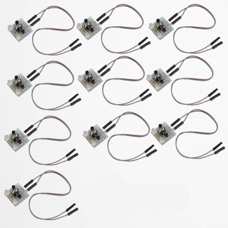 10pcs diy kits 5mm led simple flash light simple flash circuit production suite