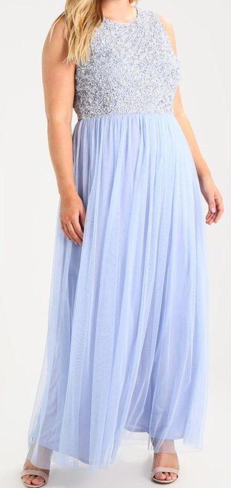 Lace & Beads Curvy Gr. 44 XXL XXL XXL PICASSO MAXILKLEID Damen Ballkleid Blau Neu A4957 b9a30c