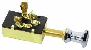 3 position push pull switch brass boat vehicle 12v 15a. Black Bedroom Furniture Sets. Home Design Ideas