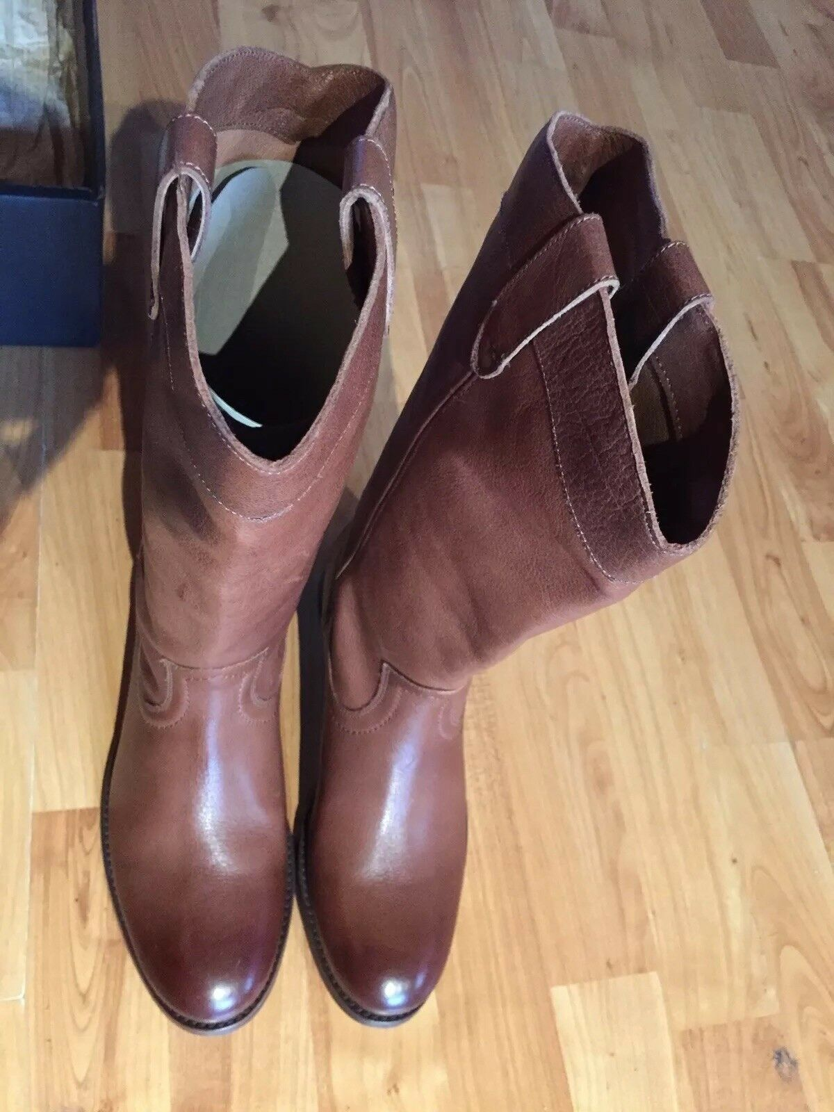 outlet in vendita Frye Melissa Pull Pull Pull On Leather Western Donna  7MED Cognac 75456 Cowboy stivali NIB  Felice shopping