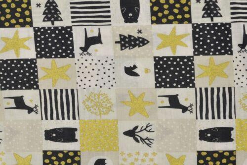 Navidad toalla cuatro esquina oso Hirsch blanco negro oro de colores