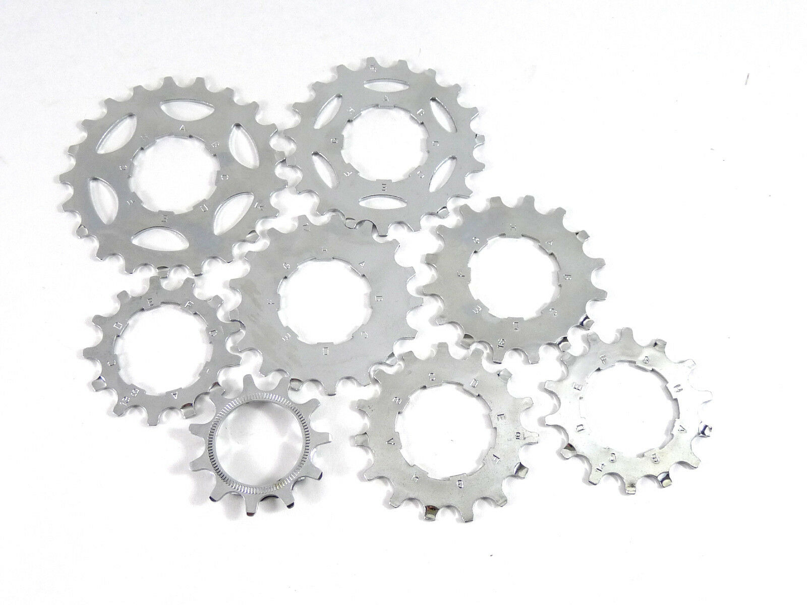 CAMPAGNOLO 8 speed cassette cogset 11-13-14-15-16-17-19-21 cogs only NOS