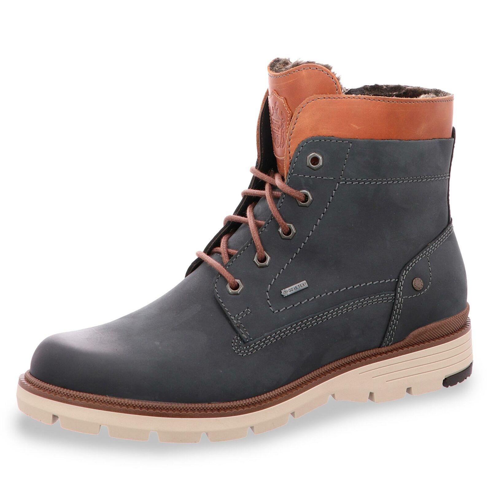 Fretz Herren GORE-TEX® Stiefel Schnürstiefelette Winterschuhe Stiefel Schuhe blau