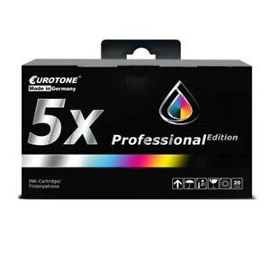 5x Eurotone Pro Ink XL For Epson Workforce Pro WF-5190-DW WF-4640-DTWF