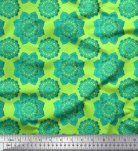 Soimoi tissu Dot /& Blanc Floral artistique imprimé tissu 1 mètre-AR-567I