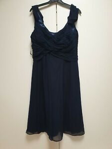 F709-WOMENS-MONSOON-NAVY-BLUE-EVENING-FORMAL-BRIDESMAID-DRESS-UK-12