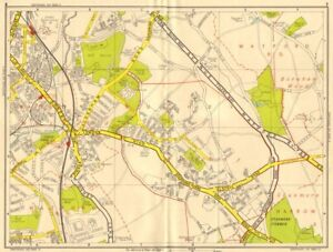 Geographers' A-z 1956 Old Map Maps, Atlases & Globes Bushey & Watford Borehamwood Stanmore Common