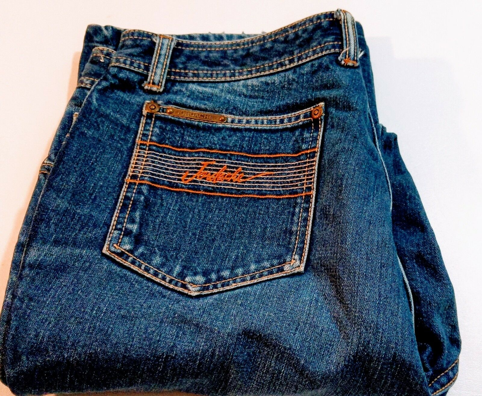 Jordache bluee Jeans Vintage Size 34L Straight Cut Medium Wash