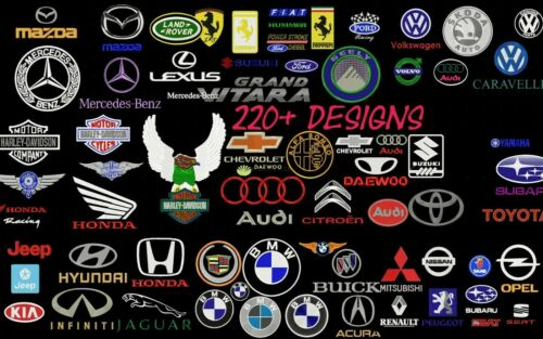 CAR COMPANIES BRAND LOGOS EMBROIDERY DESIGNS  MACHINE EMBROIDERY DESIGNS 225