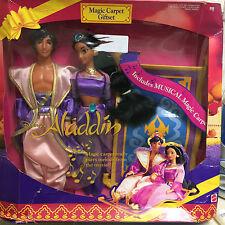 DISNEY ALADDIN MUSICAL MAGIC CARPET GIFT SET-WITH JASMINE & ALADDIN-DAMAGED BOX