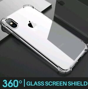 For-iPhone-X-Case-Shock-Proof-Crystal-Clear-Soft-Silicone-Gel-Bumper-Cover-Slim
