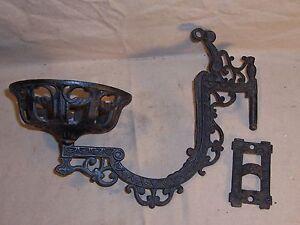 Details About Antique Kerosene Oil Lamp Holder Cast Iron Wall Mount Victorian Home Decor